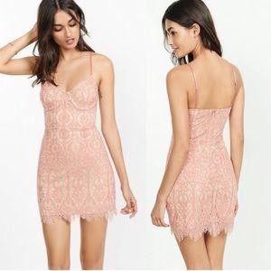 Express pink corset dress